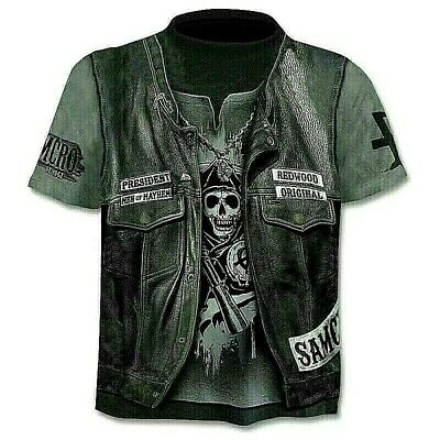 Skull 3D T Shirt - Waistcoat Hipster - Excellent Quality - Uk Seller