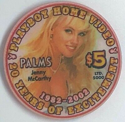 Palms Casino Playboy $5 Chip 2002 Jenny McCarthy 20 Years of Excitement Ltd Ed