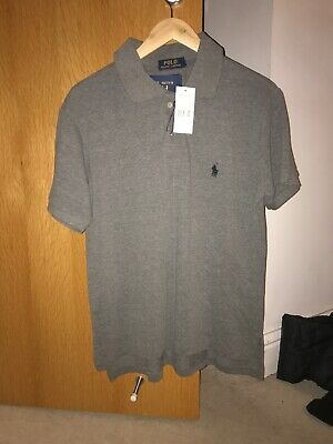 Mens Ralph Lauren Pony Short Sleeve Custom Fit Polo Shirt Size S Would Fit M