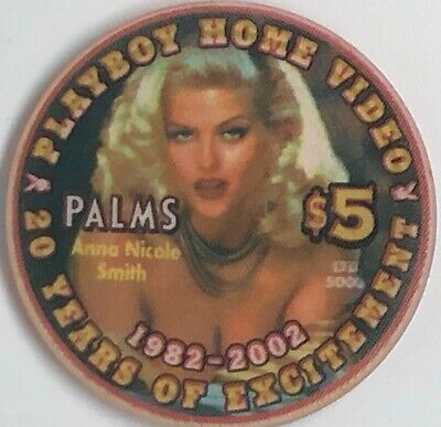 Palms Casino Playboy $5 Chip 2002 Anna Nicole Smith 20 Years of Excitement