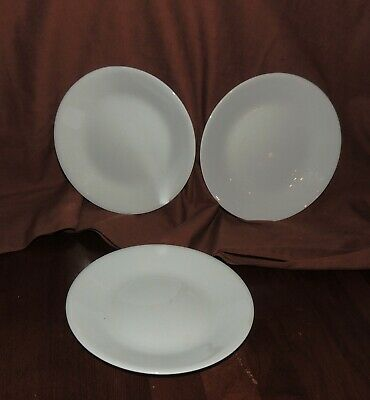 Lot of 3 Corelle Corning Winter White Pattern Bread and Butter Plates