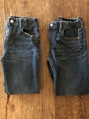Gap Kids Boys Jeans Size 10 Regular Skinny Dark Wash With Adjustable Waist EUC