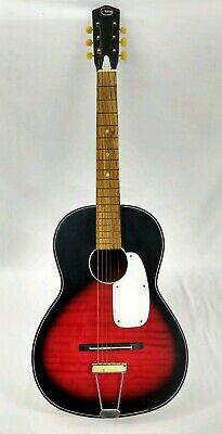 Vintage Kingston Acoustic Guitar Steel Reinforced Neck 6 Six String Japan Parlor