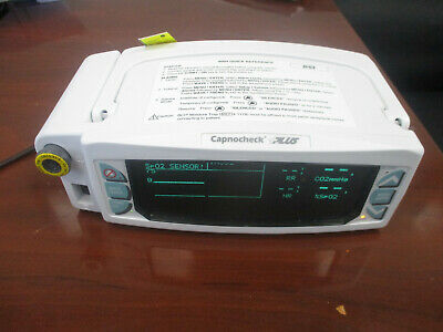 Smiths Medical 9004 Capnocheck Plus Capnograph System and Power Supply