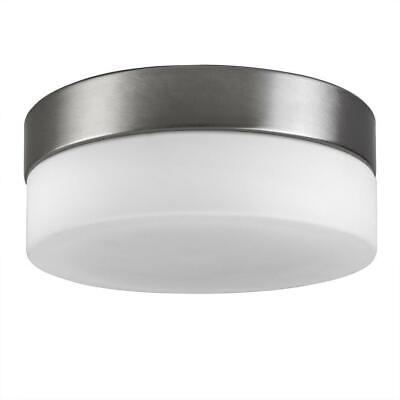 Modern Opal Frosted White Glass Round Robust Bulkhead Flush Ceiling Light