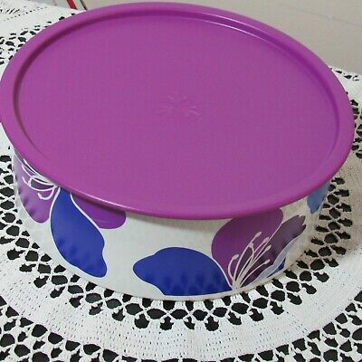 Tupperware Snack Cannister Spring Blossoms New Floral