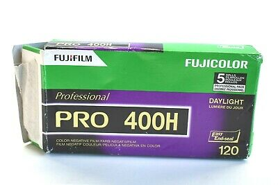 5 Rolls FujiFilm Fujicolor Professional Pro 400H Color Negative Film Daylight