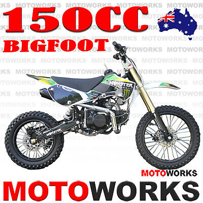 MOTOWORKS 150cc BIGFOOT OIL COOLED MOTOR TRAIL DIRT PIT PRO 2 wheels BIKE green