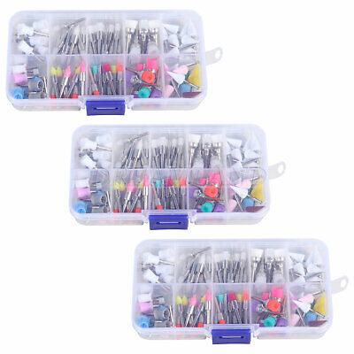 3packs Dental Prophy Brush Cup Rubber Disposable Polishing Latch Mixed Color
