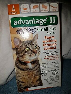 Bayer Advantage II For Small Cats 5-9 lbs one 1 single tube one dose