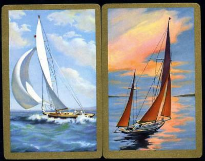 Beautiful Swap Cards Of Sailing Boats On The Sea Brand New