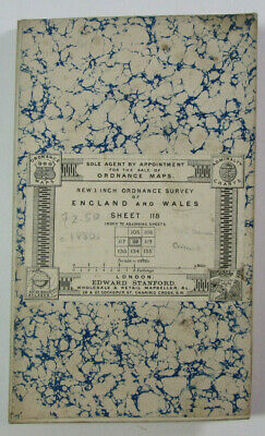 1899 Old Antique OS Ordnance Survey Revised New Series One-Inch Map 118 Nevin