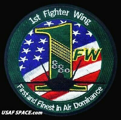 USAF 1st FIGHTER WING -F-22 Raptor F-15A/B Eagle-Langley AFB, VA- ORIGINAL PATCH