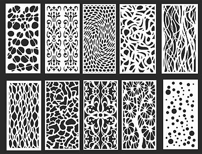 DXF-CDR of PLASMA LASER & ROUTER Cut -CNC  10 PANEL ITEMS