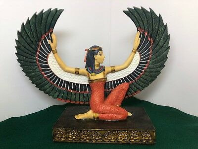 Egyptian Goddess Isis Statue with Wings ~ la verona collection figurine~2001