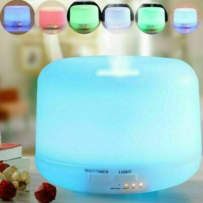 Diffusore Aromaterapia 7 Led Umidificatore Ultrasuoni 500Ml Oli Essenziali Relax