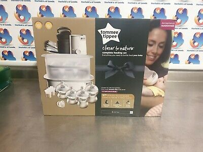 Tommee Tippee Electric Steam Steriliser Baby Bottle Complete Feeding Set White M