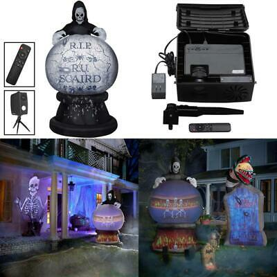 8 ft Halloween Projection Projector Inflatable Airblown Outdoor Decoration Scary