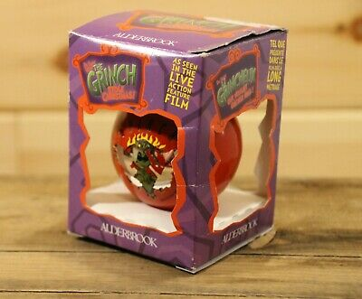 Universal How the Grinch Stole Christmas Christmas Ornament 2000 In Box +