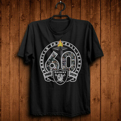 Oakland Raiders 1960-2019 60th Anniversary Unisex Black T Shirt S-6XL