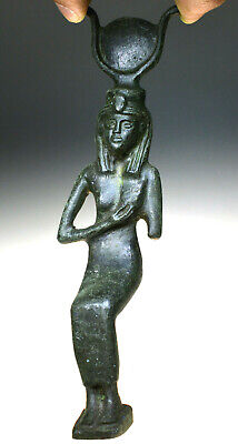 Egyptian Bronze Statue of Isis, the Egyptian Goddess of Rebirth
