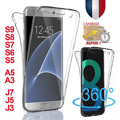 Coque Silicone Total Housse SAMSUNG GALAXY S8 S9 S7 PROTECTION Etui Protection