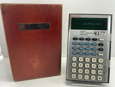 RARE Vintage NC-77 Tamaya Digital Navigation Calculator Marine Shipping Computer