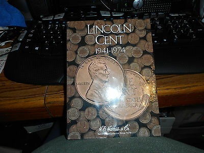H E HARRIS #2673 Coin Folder #2 LINCOLN CENT 1941-1974 BRAND NEW FREE SHIP TO US
