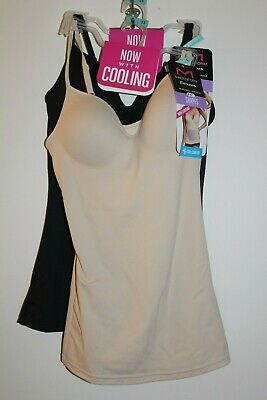 x2 Maidenform Flexees Wirefree Camisole Sz S(5) Firm Cooling W83070