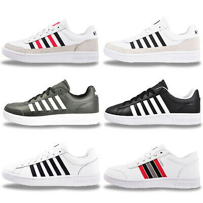 K Swiss Mens LEATHER Classic Retro Fashion Trainers From £21.99 - FREE P&P