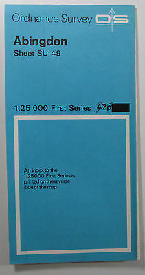 1959 Old Vintage OS Ordnance Survey 1:25000 First Series Map SU 49 Abingdon