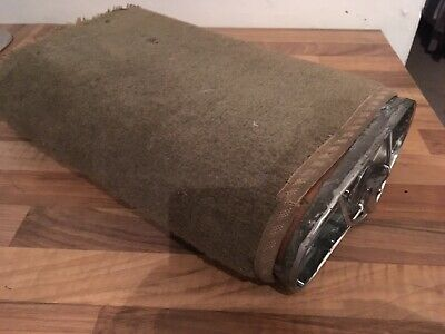 Copper Carriage Foot Warmer Antique With Original Carpet Covering