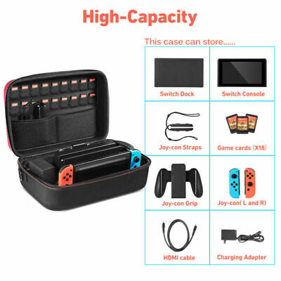 Foxnovo Protective Hard EVA Carry Case Bag Storage Box Large for Nintendo Switch