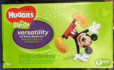 **HOT** HUGGIES Little Movers Slip On Diaper Pants Size 6 Over 35 Lbs, FREE SHIP