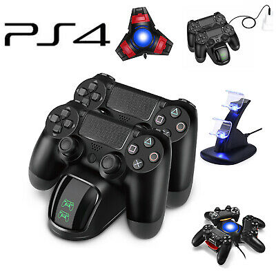 For PlayStation4 PS4 Controller Dual USB Charger LED Dock Station Charging Stand
