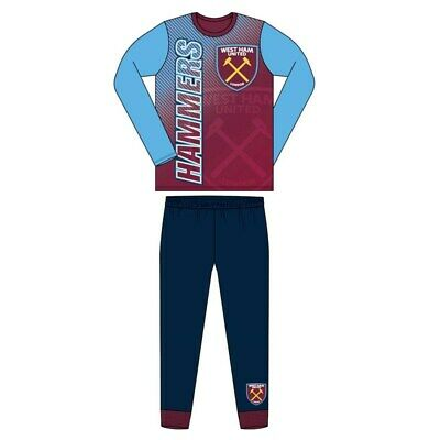 Boys Official West Ham United FC Pyjamas Size Age 4-12 Years Hammers NEW