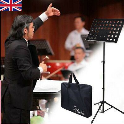 Sturdy Non-Slip Adjustable Orchestral Conductor Stand Sheet Music Holder + Case