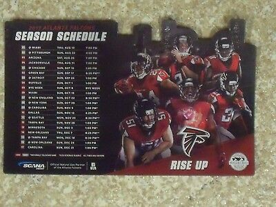 2017 Atlanta Falcons (NFL) SCANA energy sponsored team issued magnet schedule