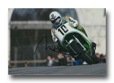 Mick Grant Hand Signed 12X8 Photo - Isle Of Man Tt Autograph 1.