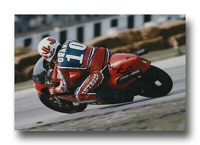 Mick Grant Hand Signed 12X8 Photo - Isle Of Man Tt Autograph 2.