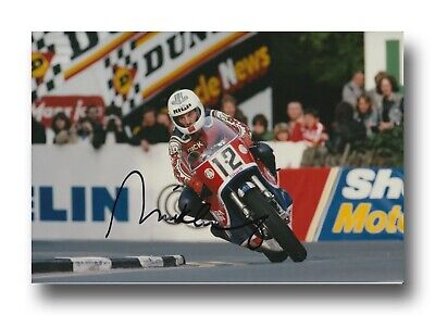 Mick Grant Hand Signed 12X8 Photo - Isle Of Man Tt Autograph 5.