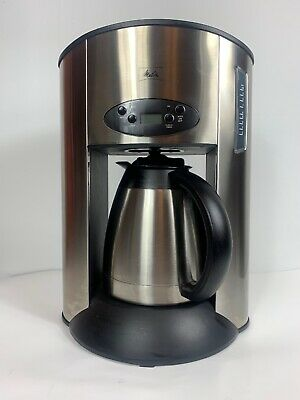 Melitta 10-cup Programmable Coffee Maker Stainless Steel ME10TDS-A