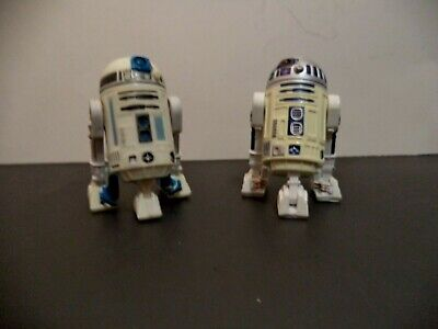 2 Star Wars astromech droid action figures one is R2-D2 3.75 inch