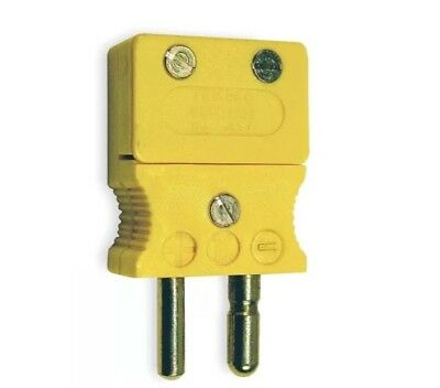 2pcs,Tempco Thermocouple Plug, Yellow, Type: K, Plug or Connector Type: