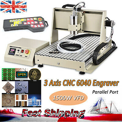 1.5KW 3Axis 6040 CNC Router Engraver Machine Milling Engraving Cutter Machine UK