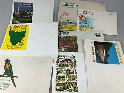Vintage Lot Of 19 Postcard Envelopes - Australian Places - Envelopes Only