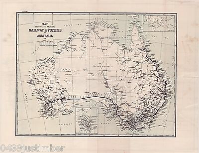 Railway Systems of Australia..Map Showing the Principle Lines In Use In 1931
