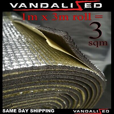 Camper Van Insulation Foam Soundproof Closed Cell Self-adhesive 7mm x 3m vw t 6