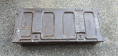 Ammo Box Can Military Army Issue Metal Storage Case HEAVY DUTY 1966 ammunition