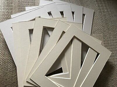 10 BEIGE SHADES PICTURE FRAME MOUNTS FOR 8 x 6 inch for 6 x 4 PRINT PHOTO ARTIST
